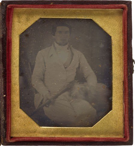 52008: Sixth Plate American Daguerreotype C. 1845 of a