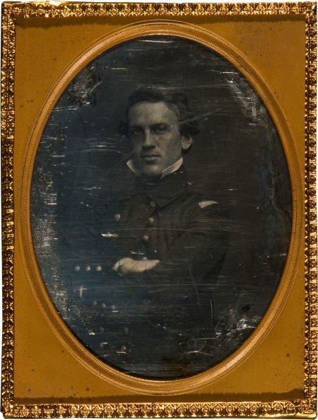 52009: Quarter Plate Daguerreotype Portrait C. 1852 of