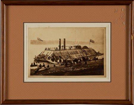 52011: Civil War Period Albumen View of the U. S. S. Es