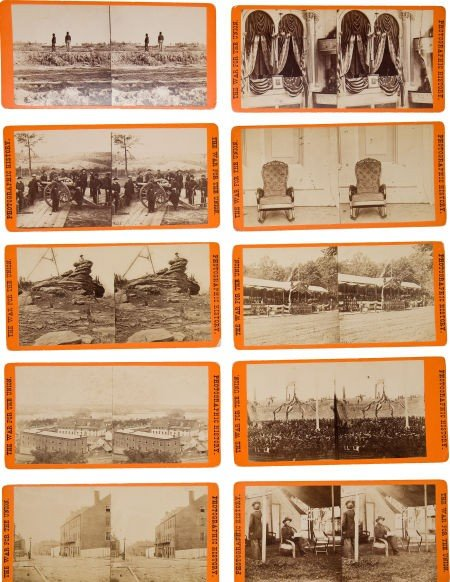 52015: Group of Ten Orange Mount E & H. T. Anthony Civi
