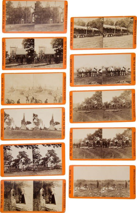 52016: Group of Eleven Orange Mount E. & H. T. Anthony
