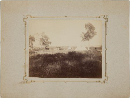 """52020: Albumen View of """"Camp at Ft. Custer 1879""""."""