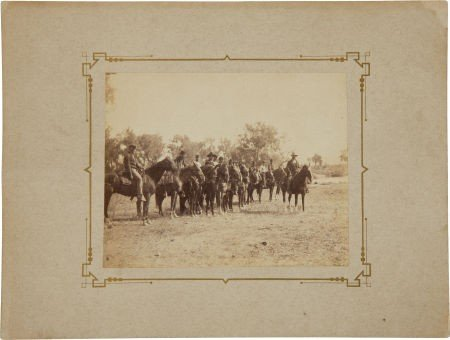 52021: C. 1879 Albumen Image of Troopers of the 2nd U.