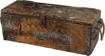 52560: Benicia Arsenal 1862 Dated Wooden Ammunition Cra