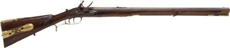 52381: Magnificent German Flintlock Jaeger Rifle C. 176
