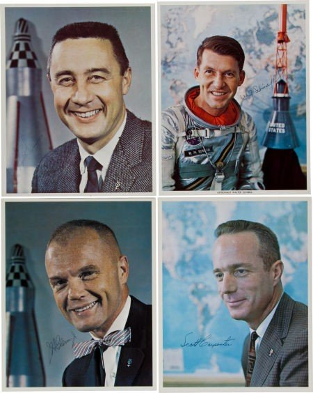 40002: Mercury Seven: Individual Signed Color Photos of