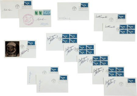 40004: Mercury Program: Collection of Thirteen Astronau