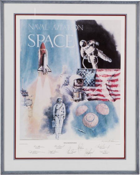 """40010: """"Naval Aviation in Space"""" Limited Edition Lithog"""