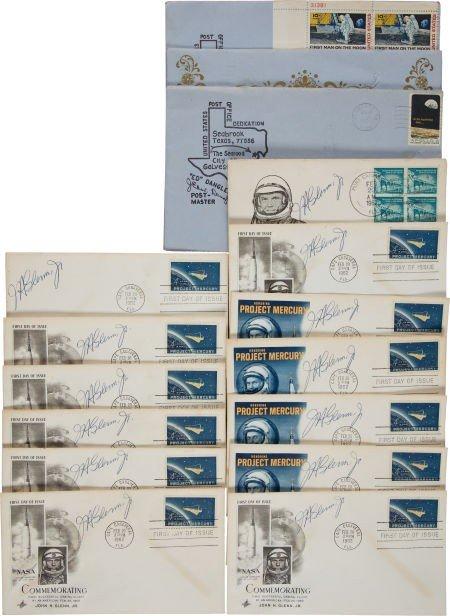 40012: John Glenn and Frank Borman Signed Cover Collect