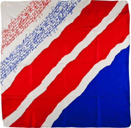 40018: Edward H. White II Memorial Fund Silk Scarf with