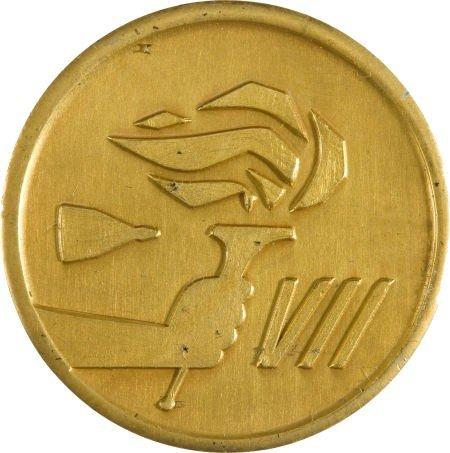 40021: Gemini 7 Flown Fliteline Gold-Colored Medallion
