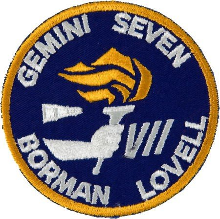 40022: Gemini 7 Flown Embroidered Mission Insignia Patc