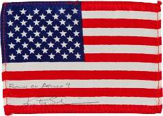40052 Apollo 9 Flown American Flag Directly from the P