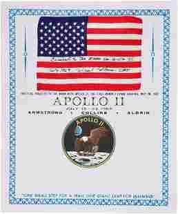 40090: Apollo 11 Flown American Flag with Presentation