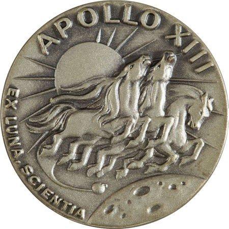 40124: Apollo 13 Flown Silver Robbins Medallion Directl