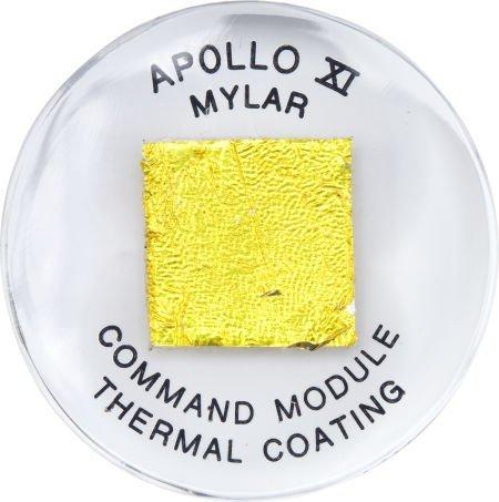 40095: Apollo 11 Flown Kapton Foil in Lucite.