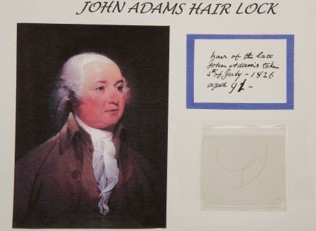 38023: John Adams: Hair Removed at the Time of His Deat