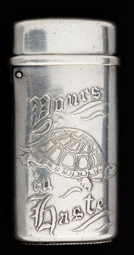 68001: A TIFFANY SILVER MATCH SAFE  Tiffany & Co., New