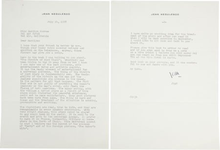 46008: A Marilyn Monroe-Received Letter from Jean Negul