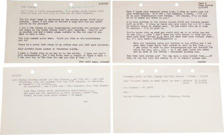 46011: A Marilyn Monroe-Received Group of Notes from He