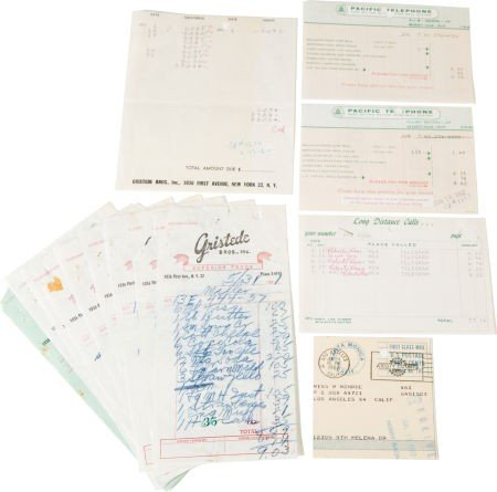 46012: A Marilyn Monroe Group of Delivery Receipts, 196