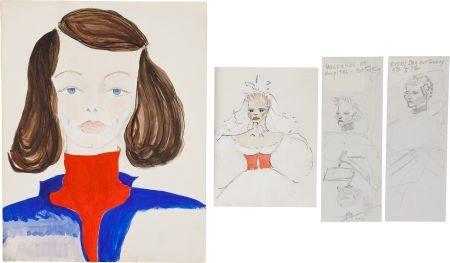 46020: A Katharine Hepburn Group of Self-Portraits, 195