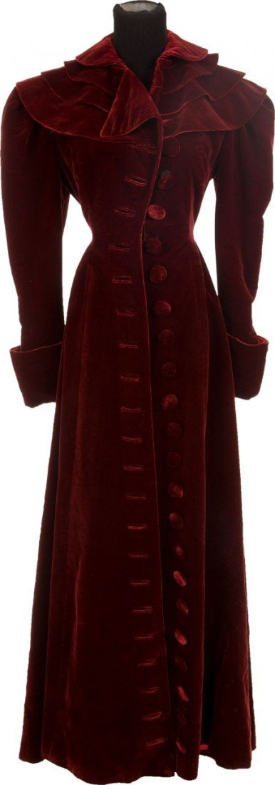 46023: A Katharine Hepburn Period Costume Coat, 1930s-1