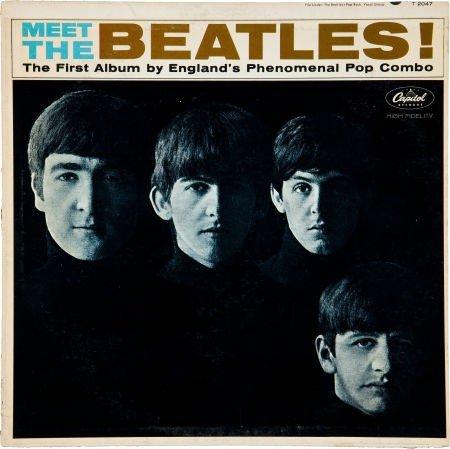 46227: Beatles Autographed Meet The Beatles LP (Capitol
