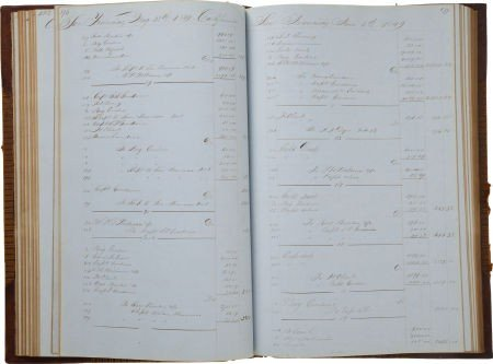 34003: [California Gold Rush] Merchant Ship's Ledger.