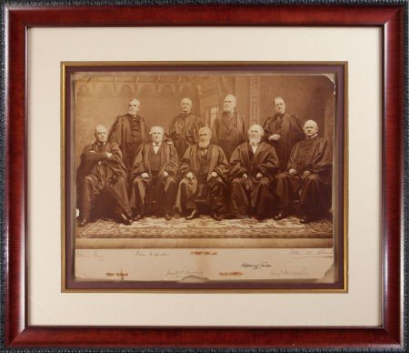 34017: Waite Supreme Court Oversized Albumen Photograph