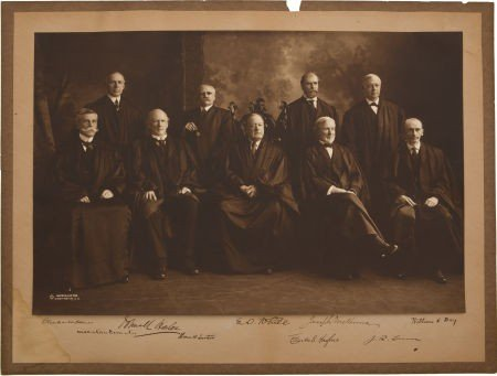34018: White Supreme Court Oversized Albumen Photograph