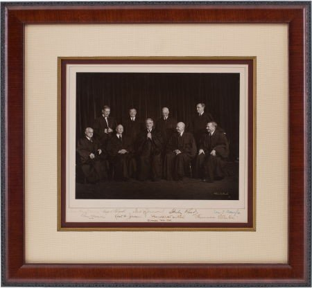 34019: Vinson Supreme Court Candid Photograph Signed by