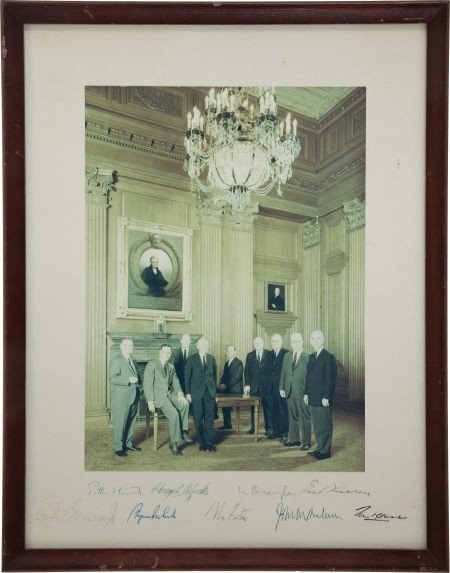 34020: Warren Court Signed Portrait.