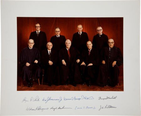 34021: Burger Supreme Court Oversized Photograph Signed