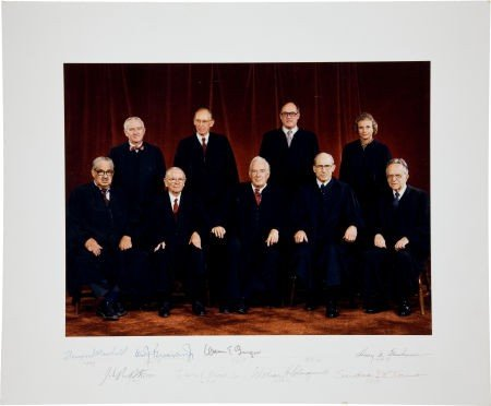 34022: Burger Supreme Court Oversized Color Photograph
