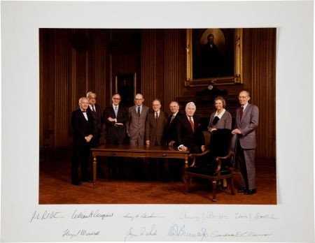 34023: Burger Supreme Court Oversized Color Photograph