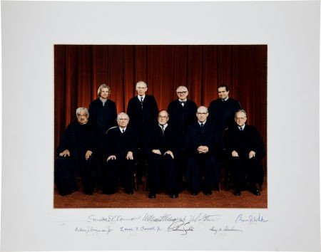 34024: Rehnquist Supreme Court Oversized Color Photogra