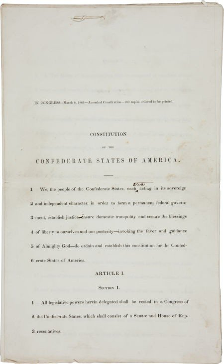 34026: [Civil War] Constitution of the Confederate Stat