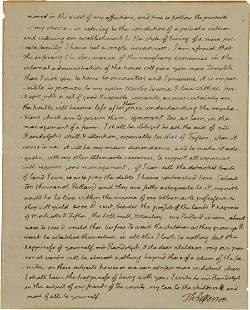 34079: Thomas Jefferson Autograph Letter Signed as Pres