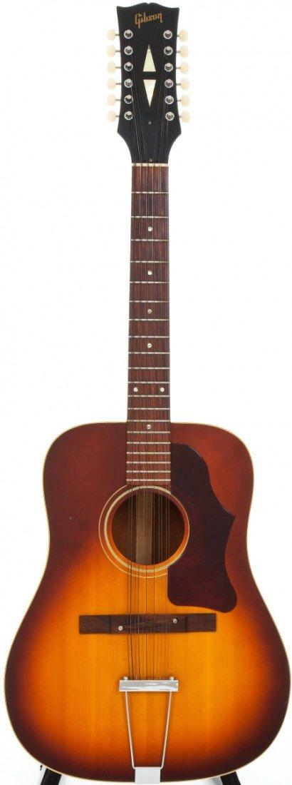 54018: 1967 Gibson B45-12 Sunburst Acoustic Guitar, Ser