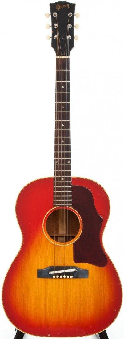 54024: 1969 Gibson B-25 Sunburst Acoustic Guitar, Seria