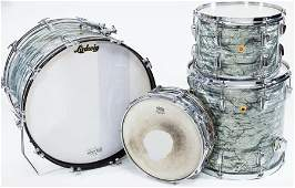 54320: 1967 Ludwig Gray Oyster Pearl 4-Piece Drum Set