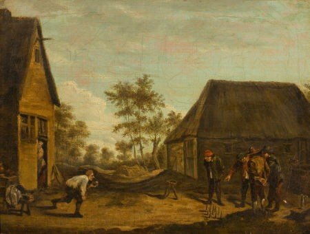 86002: Manner of DAVID TENIERS (Flemish, 1610-1690) Pea