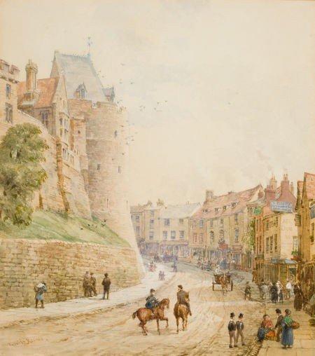 86021: LOUISE RAYNER (British, 1829-1924) Street Scene