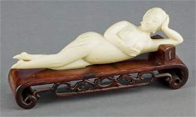 86349: A CHINESE CARVED IVORY FEMALE DOCTOR'S MODEL 20