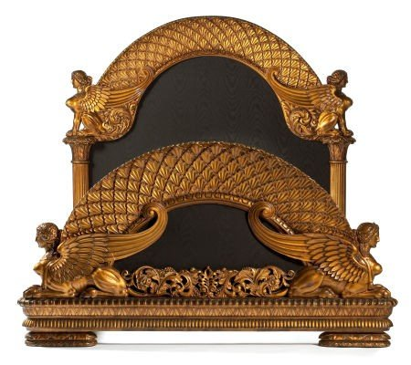 86256: AN ITALIAN GILT WOOD AND FABRIC BEDROOM SET ATTR