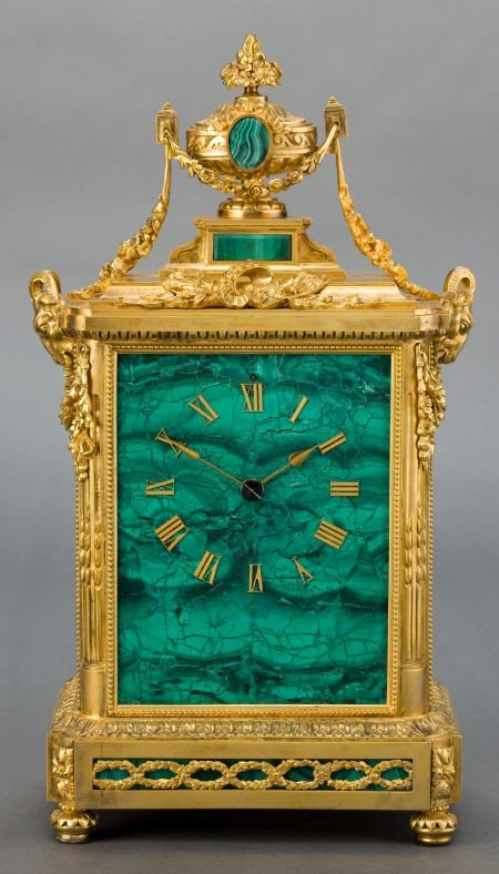86541: A FRENCH MALACHITE AND GILT BRONZE JAPY FRERES M