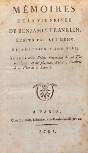 36009: Benjamin Franklin. Mémoires de la vie privée de