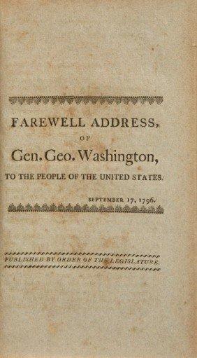 36020: [George Washington]. Farewell Address of Gen. Ge