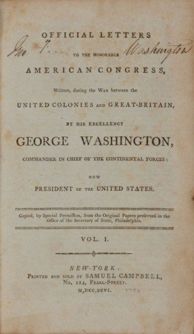36021: George Washington. Official Letters to the Honor
